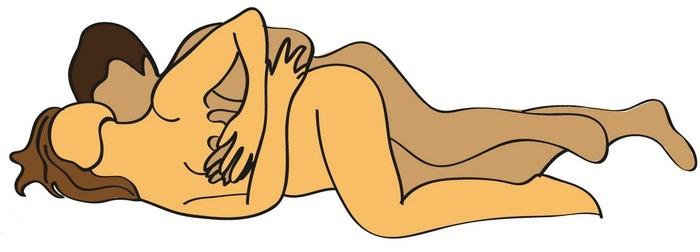 Image de la position sexuelle de la cuillère