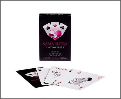 Des cartes à jouer du Kamasutra