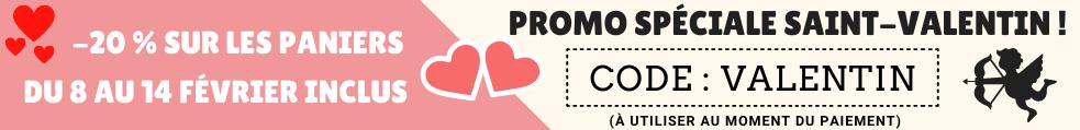 Un code de réduction pour la Saint-Valentin